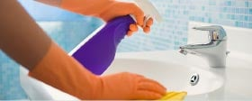 Disinfect solid surfaces