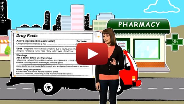 Video de Información de la etiqueta de medicamentos de venta libre