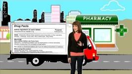 Medicamentos en mi casa: etiqueta de información de un medicamento de venta libre